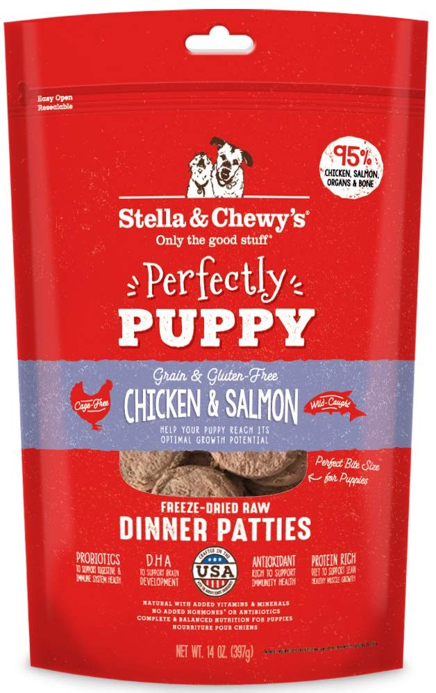 Stella & Chewy's Freeze-Dried Raw Dinner Patties Chicken & Salmon For Puppies