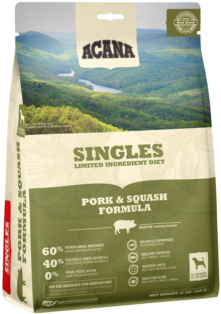 Acana Dry Dog Food Singles Pork & Squash 12oz