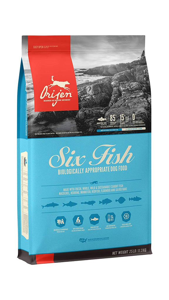 Orijen Dry Dog Food Six Fish All Life Stages 25lb