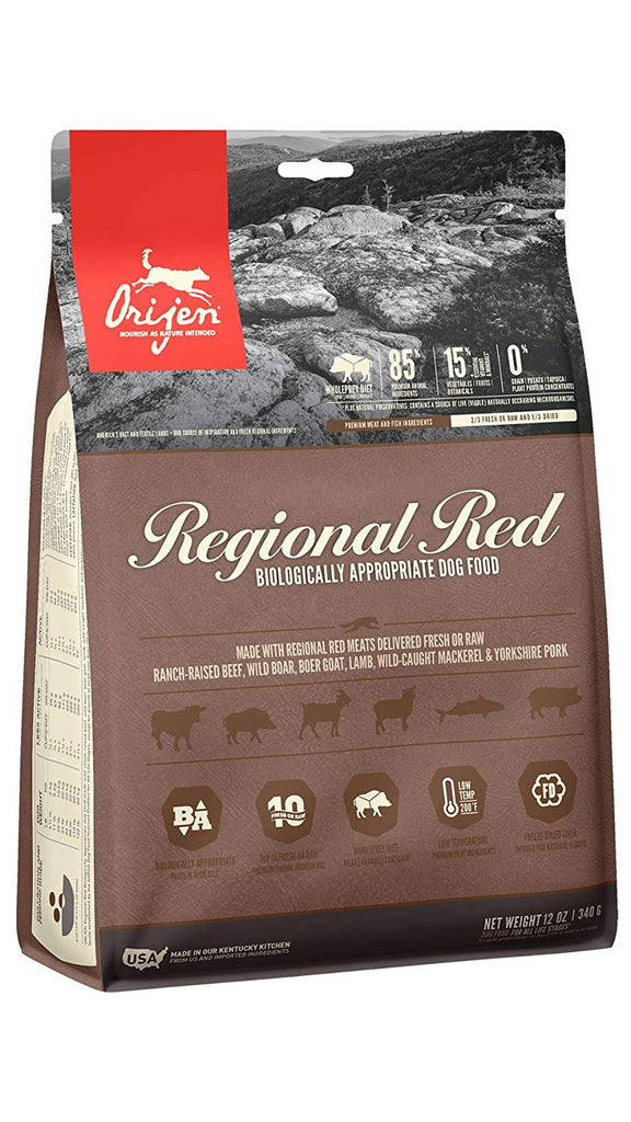 Orijen Dry Dog Food Regional Red All Life Stages 12oz