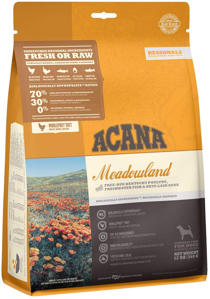 Acana Dry Dog Food Meadowland for Dog 12oz
