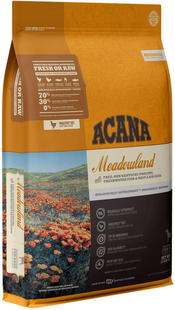Acana Dry Dog Food Meadowland for Dog 13lb
