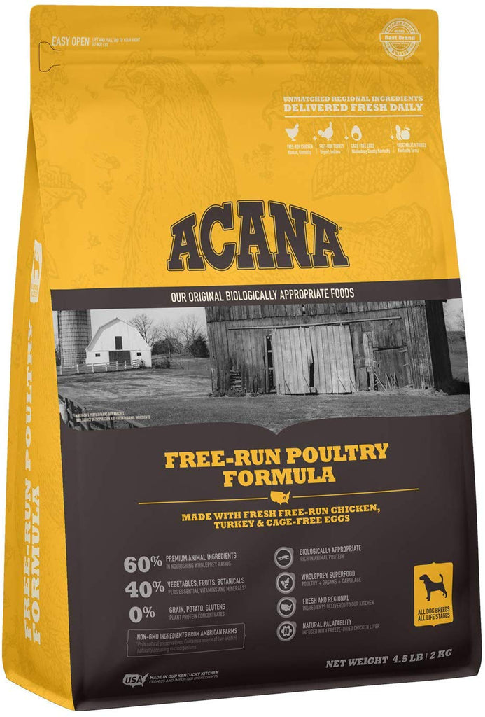 Acana Heritage Free-Run Poultry for Dog 4.5lb