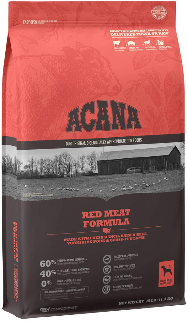Acana Dry Dog Food Red Meat Formula for Dog 25lb