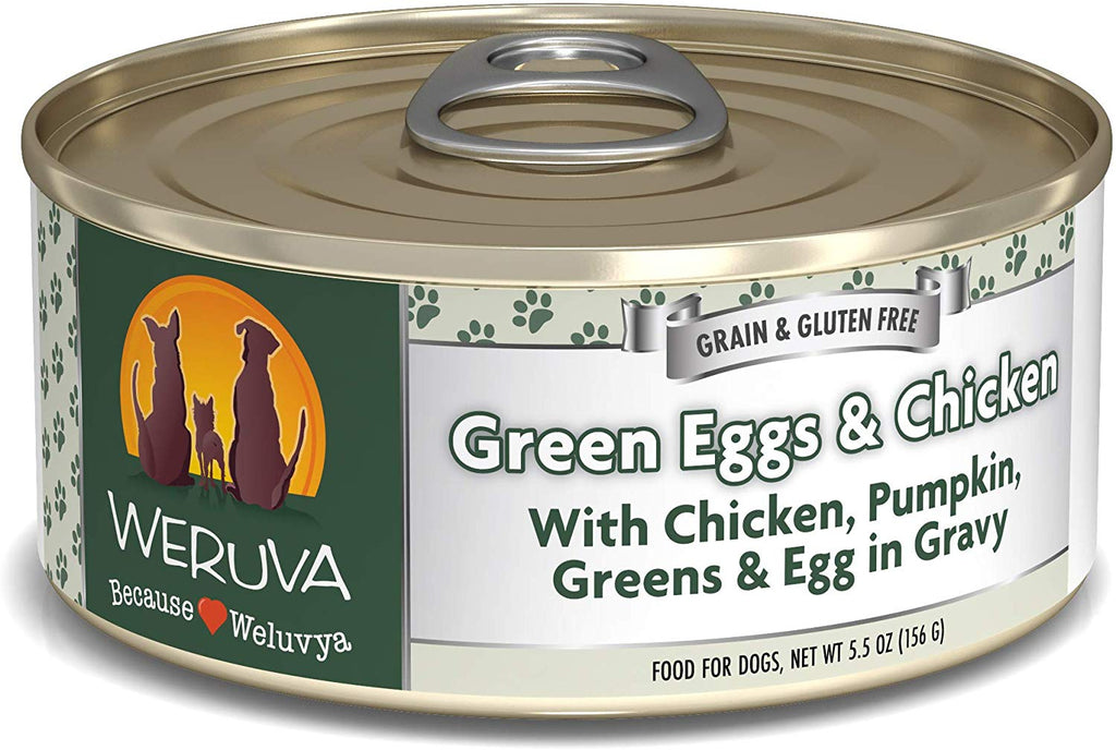 Weruva Green Eggs and Chicken for Dog 5.5oz