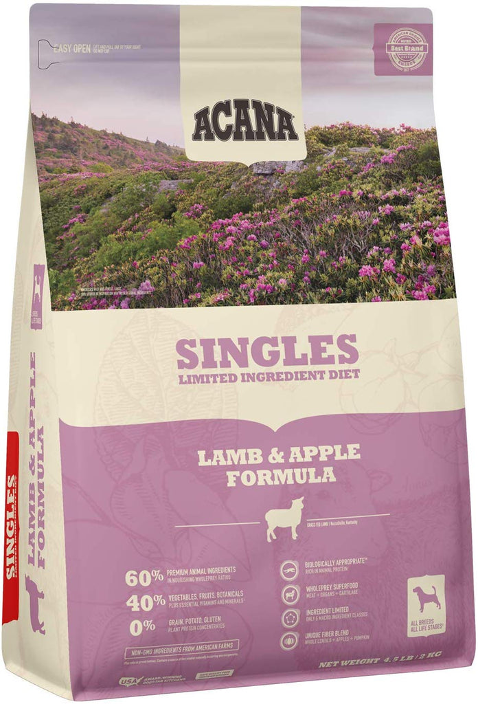 Acana Dry Dog Food Singles Lamb & Apples 4.5lb