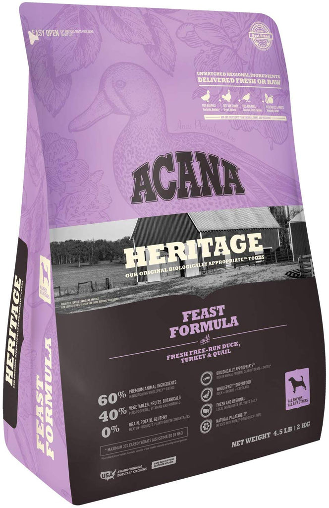 Acana Dry Dog Food Heritage Feast 4.5lb