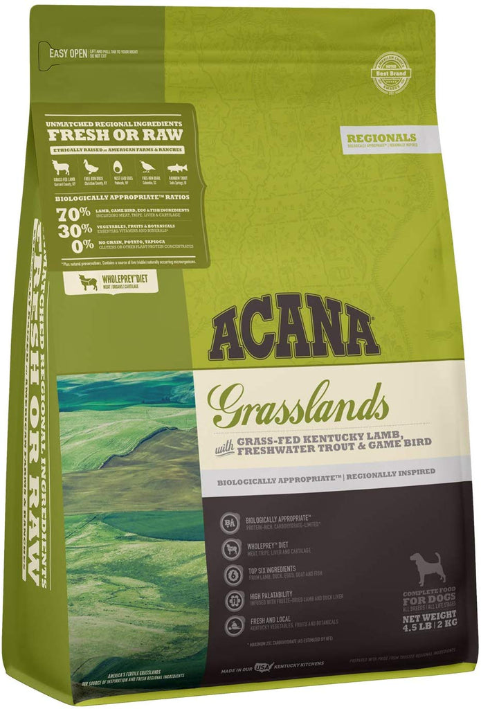 Acana Dry Dog Food Grasslands for Dog 4.5lb