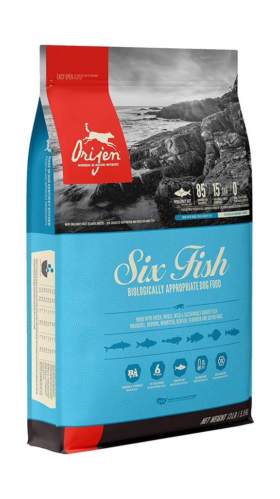 Orijen  Dry Dog Food Six Fish All Life Stages 13lb