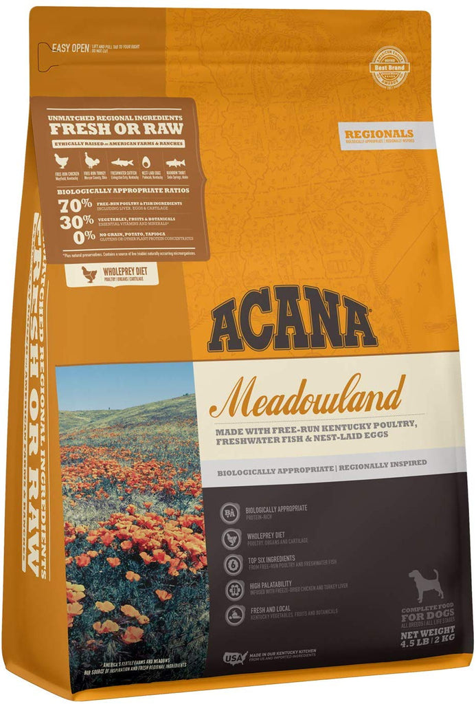 Acana Dry Dog Food Meadowland for Dog 4.5lb