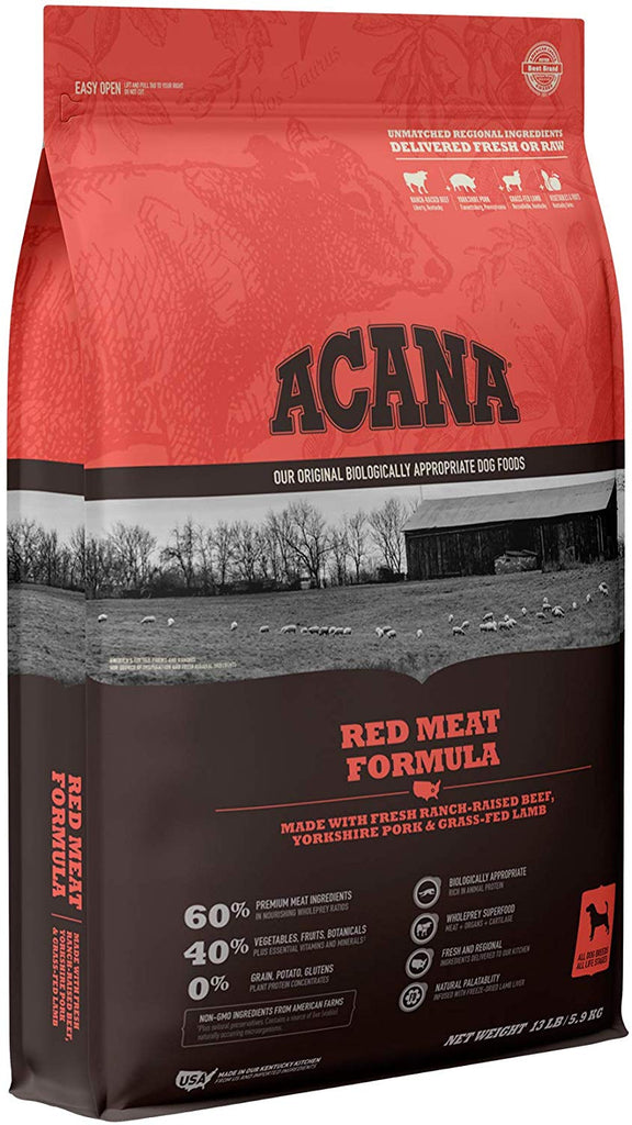 Acana Dry Dog Food Red Meat Formula for Dog 13lb