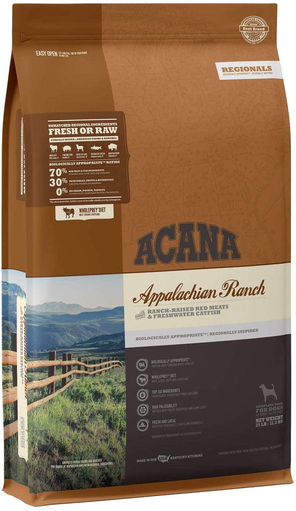 Acana Dry Dog Food Appalachian Ranch 25lb