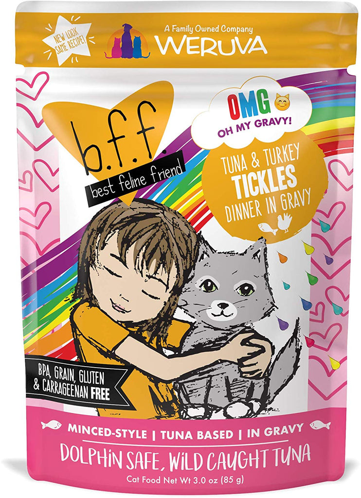 BFF Tickles Tuna and Turkey Pouch 3oz