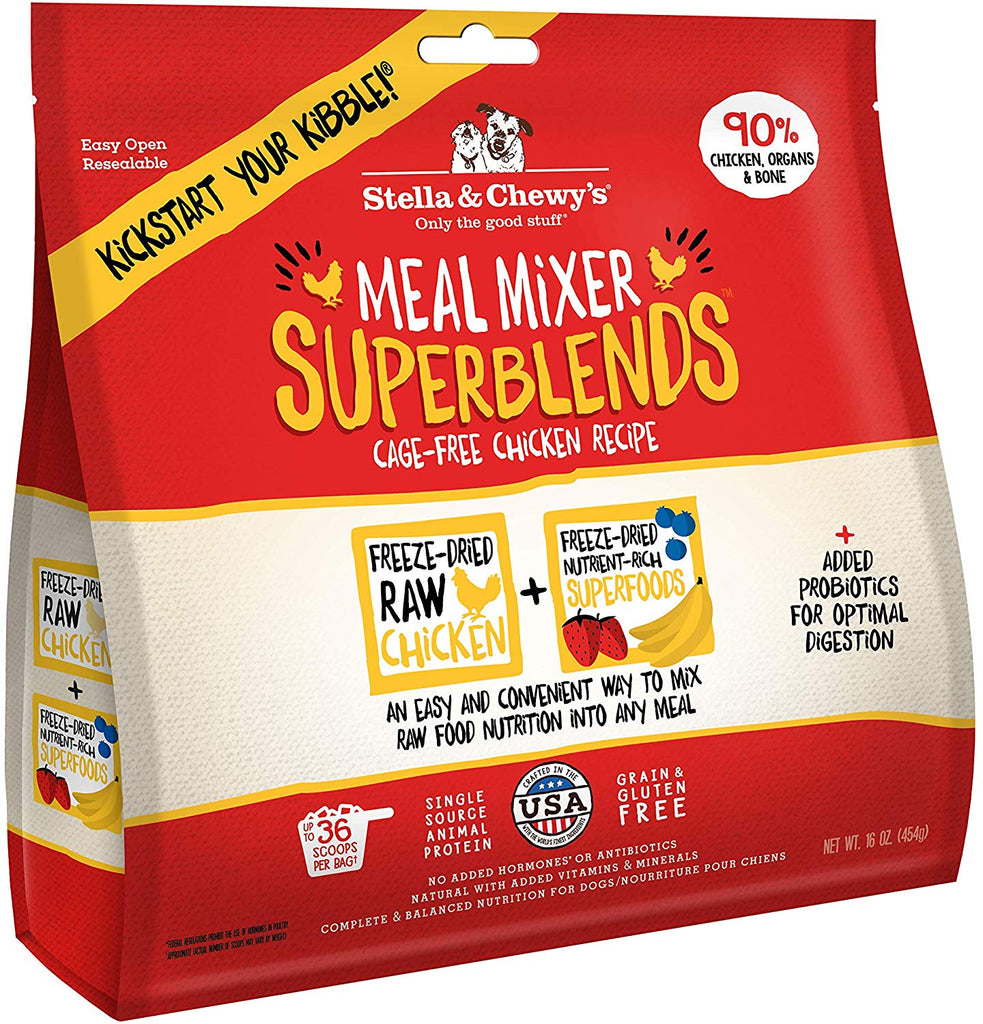 Stella & Chewy's Dried Meal Mixer Super Blends Cage-Free Chicken Recipe 16oz