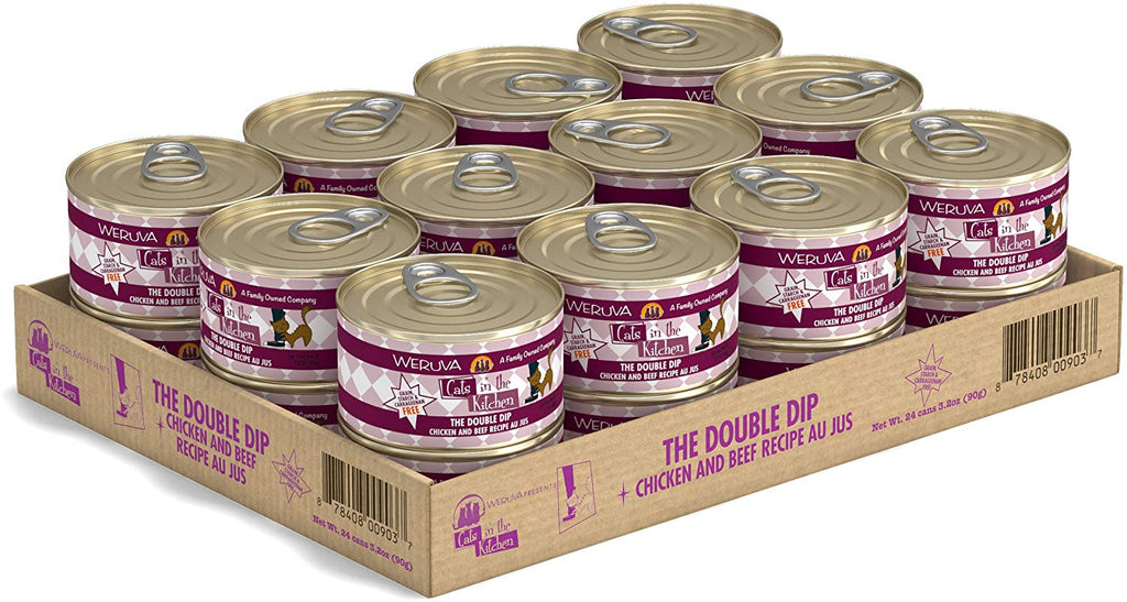 Weruva Wet Cat Food Cat's in the Kitchen The Double Dip 3.2oz 24/Case