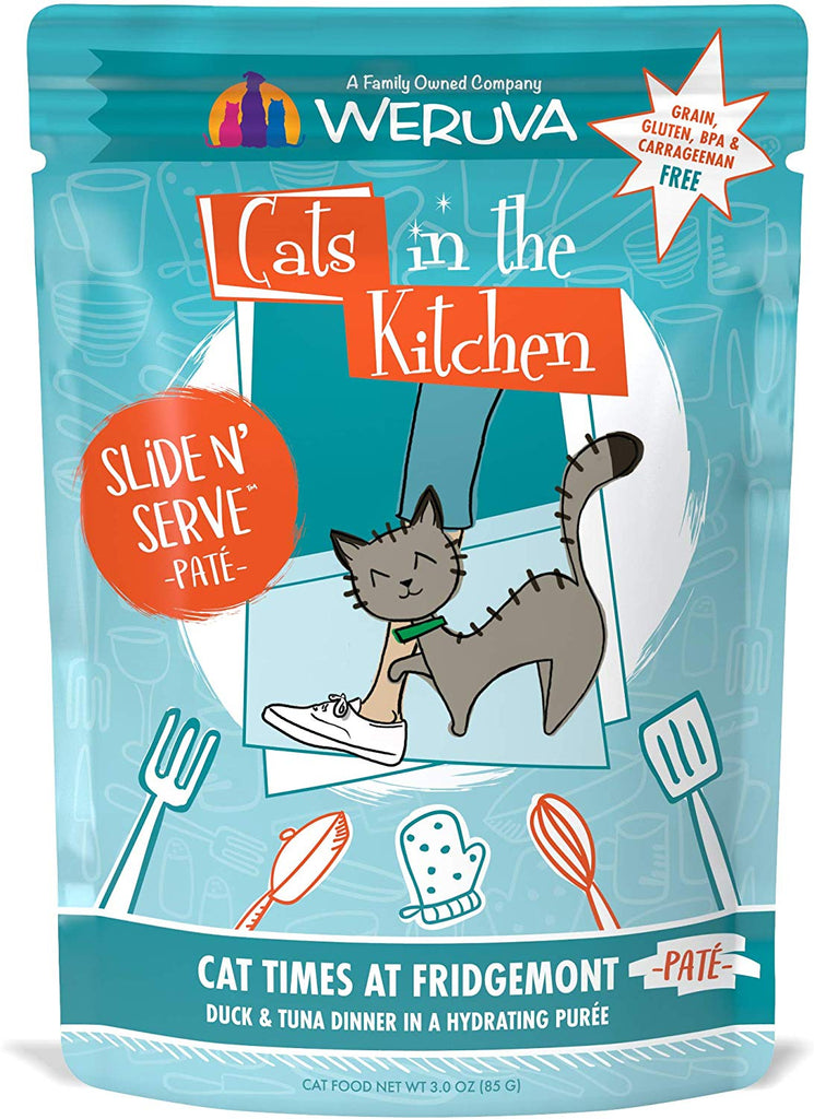 Weruva Cats in The Kitchen Slide N Serve Cat Times At Fridgemont Pouch 3oz