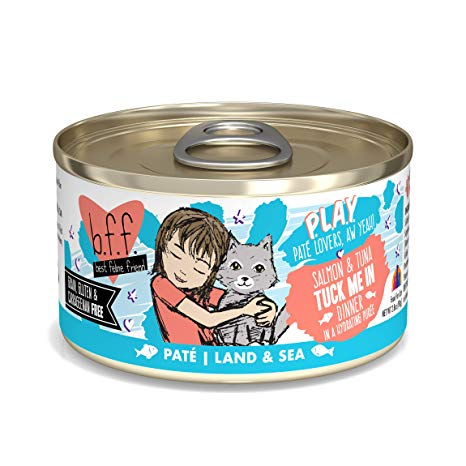BFF Cat Play Tuck Me In Salmon & Tuna 2.8oz