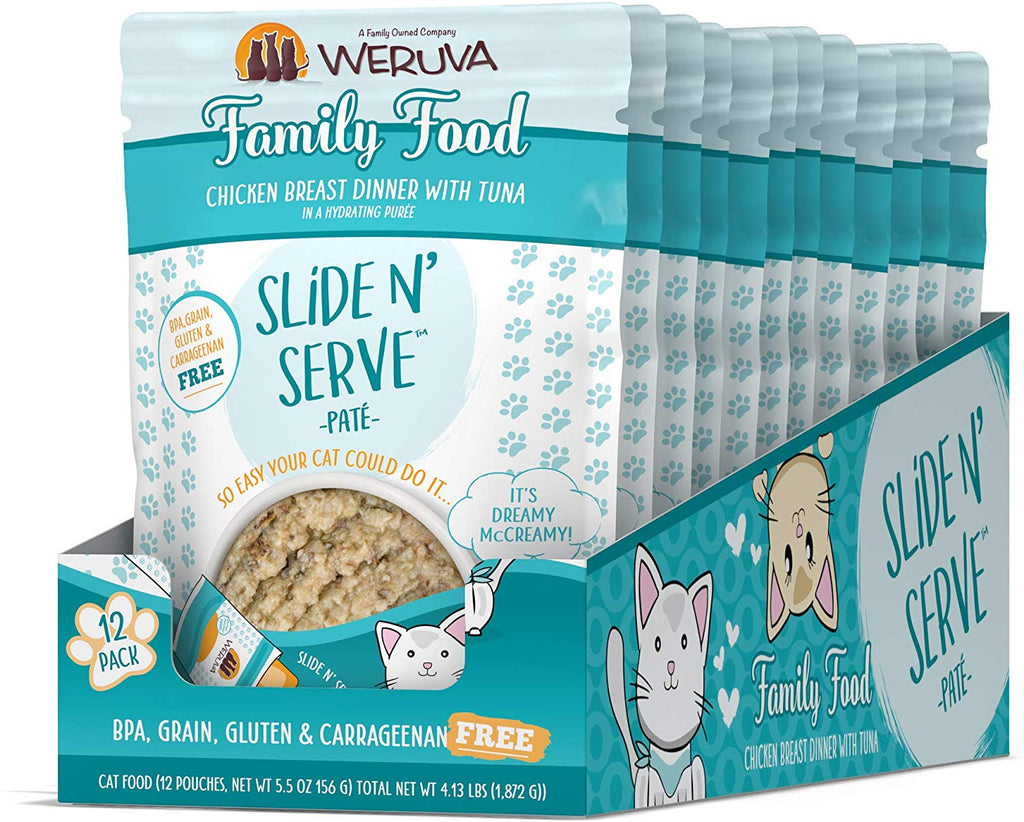 Weruva Cat Slide & Serve Family Food 5.5oz 12/Case