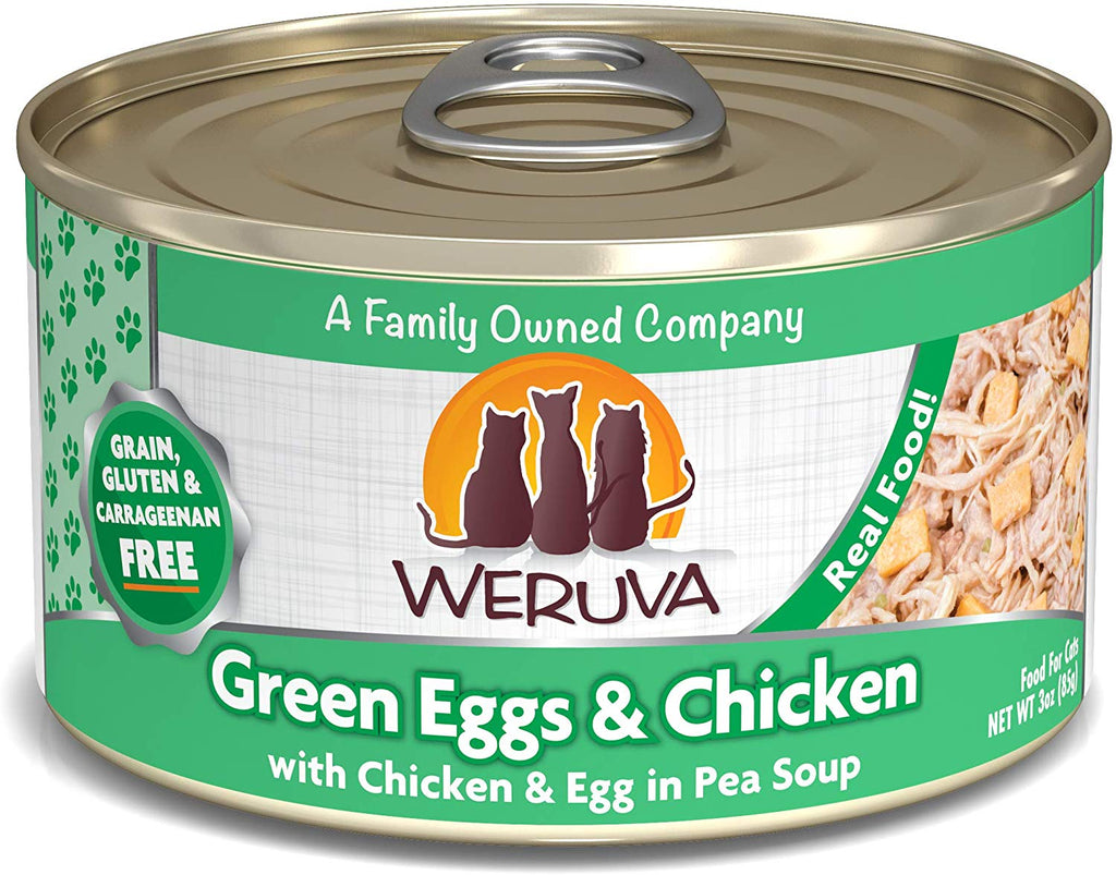 Weruva Wet Cat Food Green Eggs and Chicken 3oz