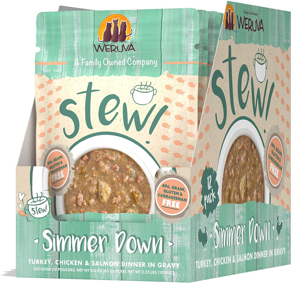 Weruva Cat Stew Simmer Down Pouch 3oz 12/Case