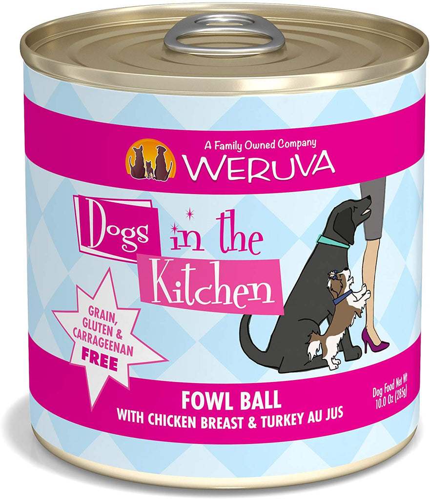 Weruva Dogs in the Kitchen Fowl Ball 10oz Can