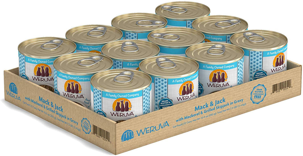Weruva Wet Cat Food Mack and Jack 10oz 12/Case