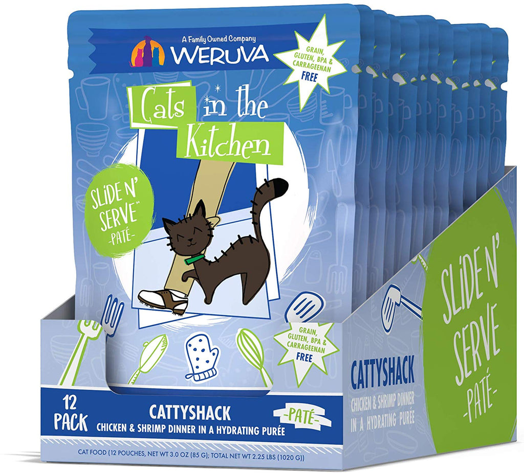 Weruva Cats in The Kitchen Slide N Serve CattyShack Pouch 3oz 12/Case