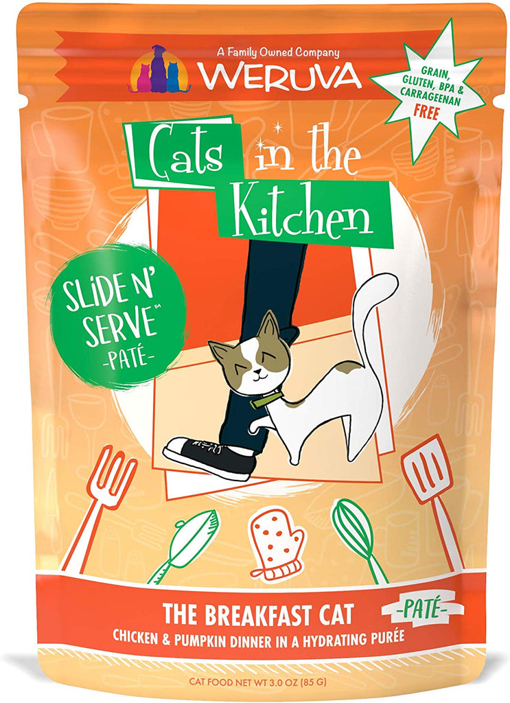 Weruva Cats in The Kitchen Slide N Serve The Breakfast Cat Pouch 3oz