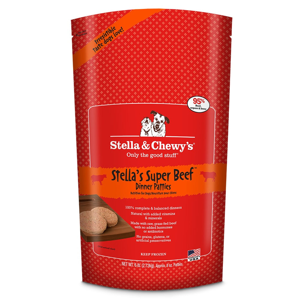 Stella & Chewy's Frozen RAW Stella's Super Beef  for Dogs6lb