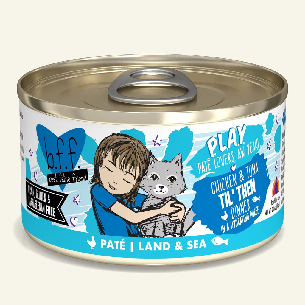 BFF Cat Play Til' Then Chicken & Tuna 2.8oz