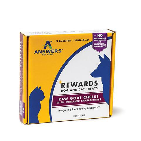 Answers Dog/Cat Frozen Goat Cheese & Cranberry Treat 8oz