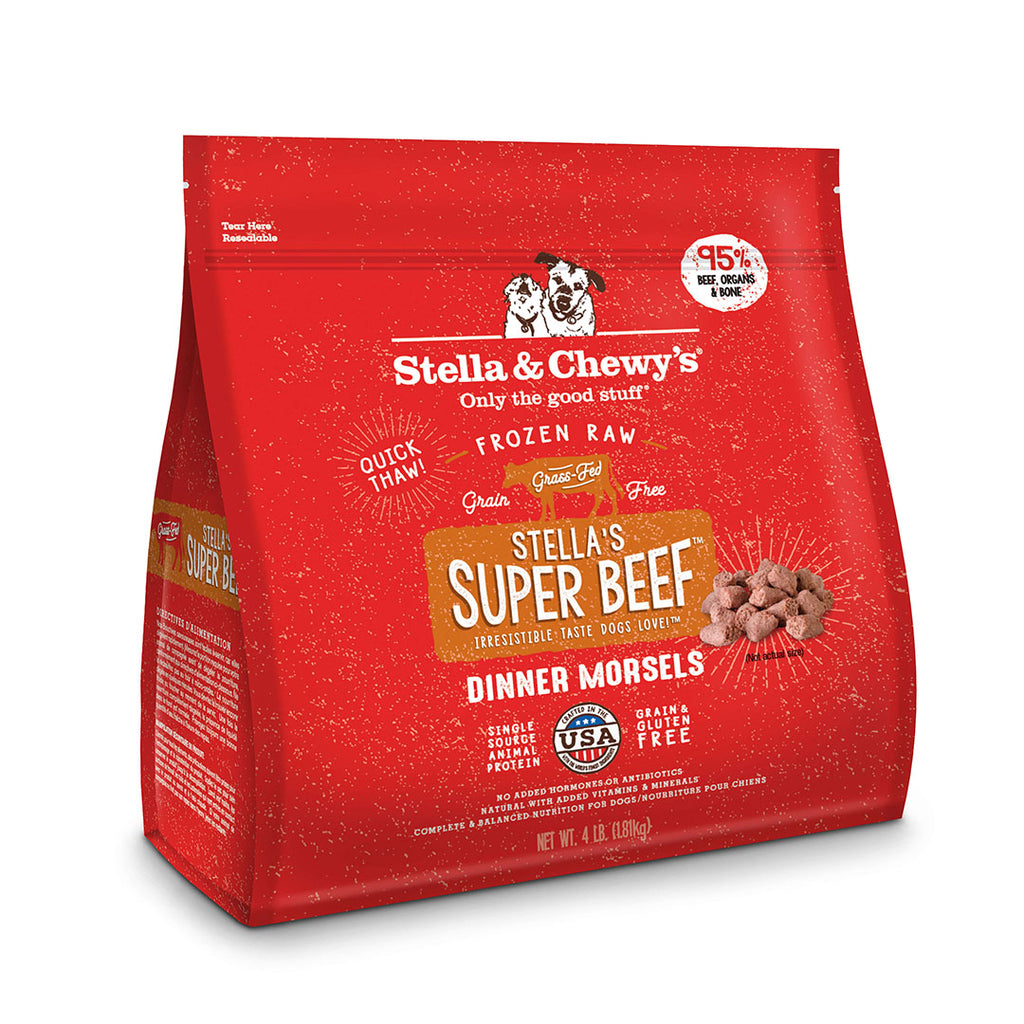 Stella & Chewy's Freeze-Dried RAW Stella's Super Beef Morsels for Dogs 4lb