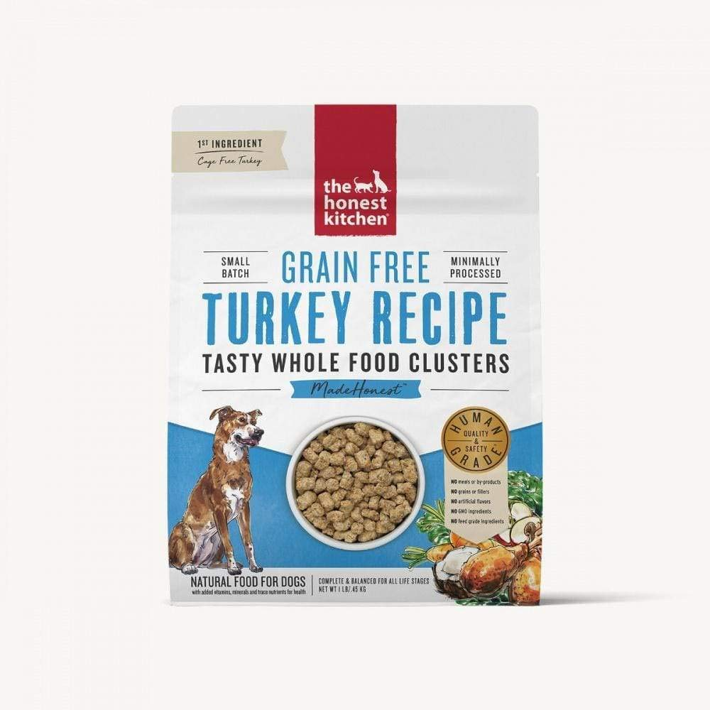Honest Kitchen Whole Food Clusters Grain Free Turkey Dog 5lb