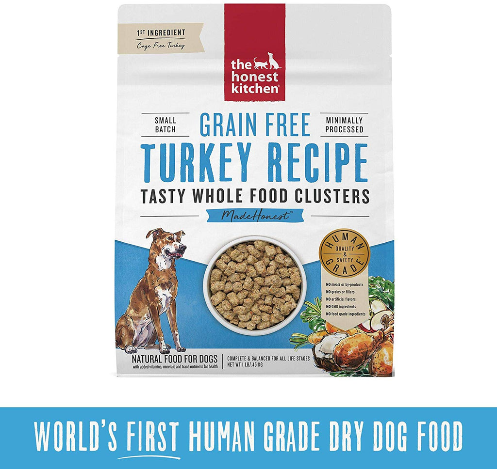 Honest Kitchen Whole Food Clusters Grain Free Turkey 1lb