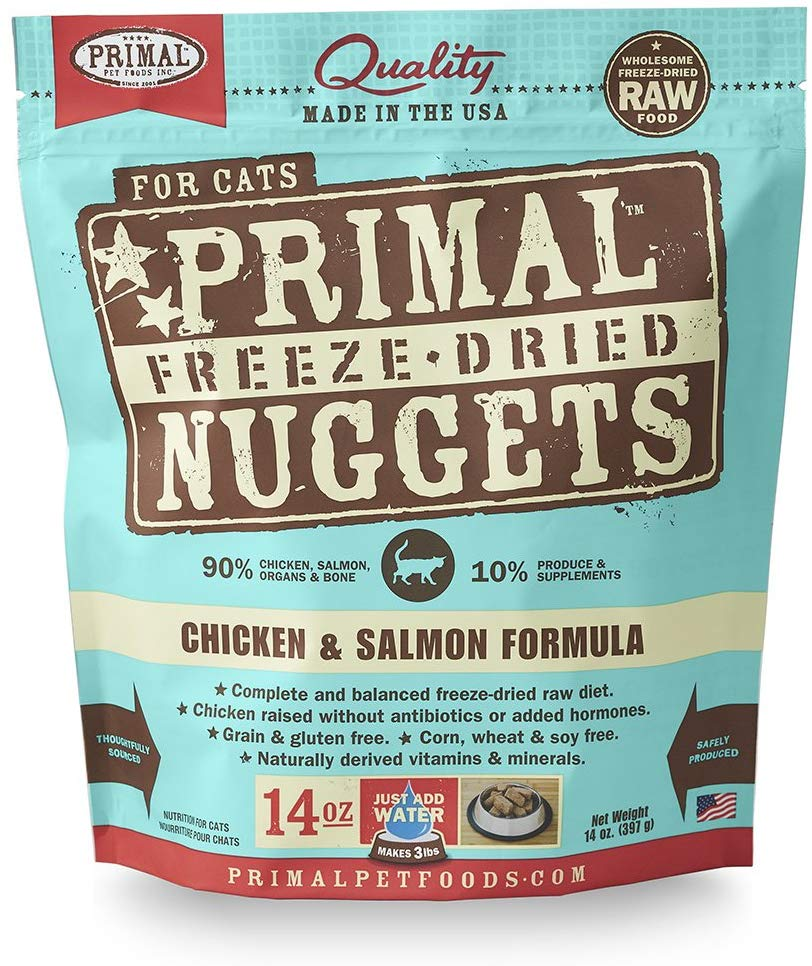 Primal Freeze Dried Chicken and Salmon for Cat 14oz