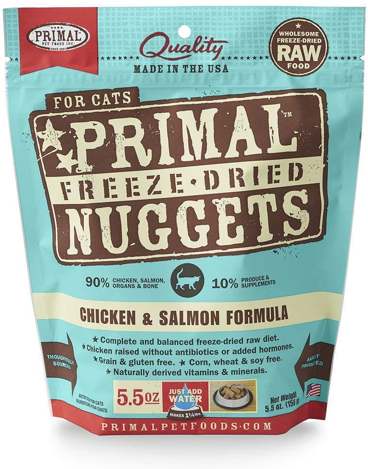 Primal Freeze Dried Chicken and Salmon for Cat 5.5oz