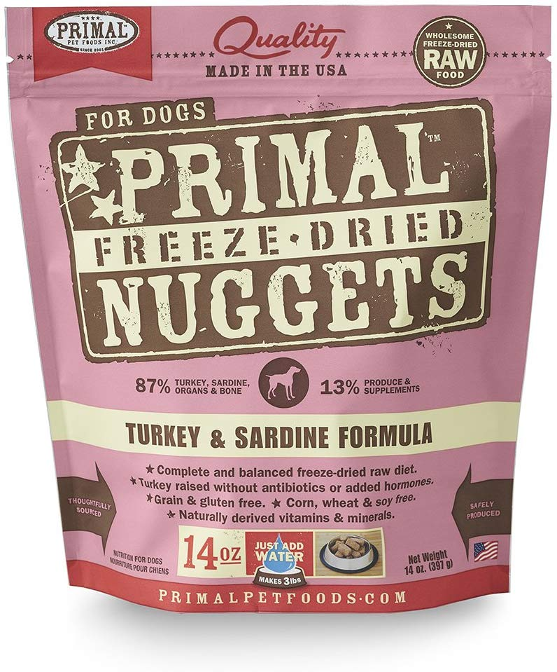 Primal Freeze Dried Turkey and Sardine for Dog 14oz