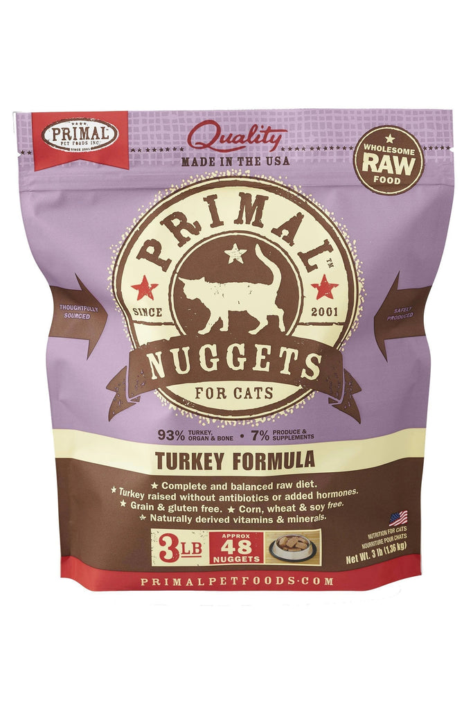 Primal RAW Frozen Turkey for Cat 3lb Nuggets