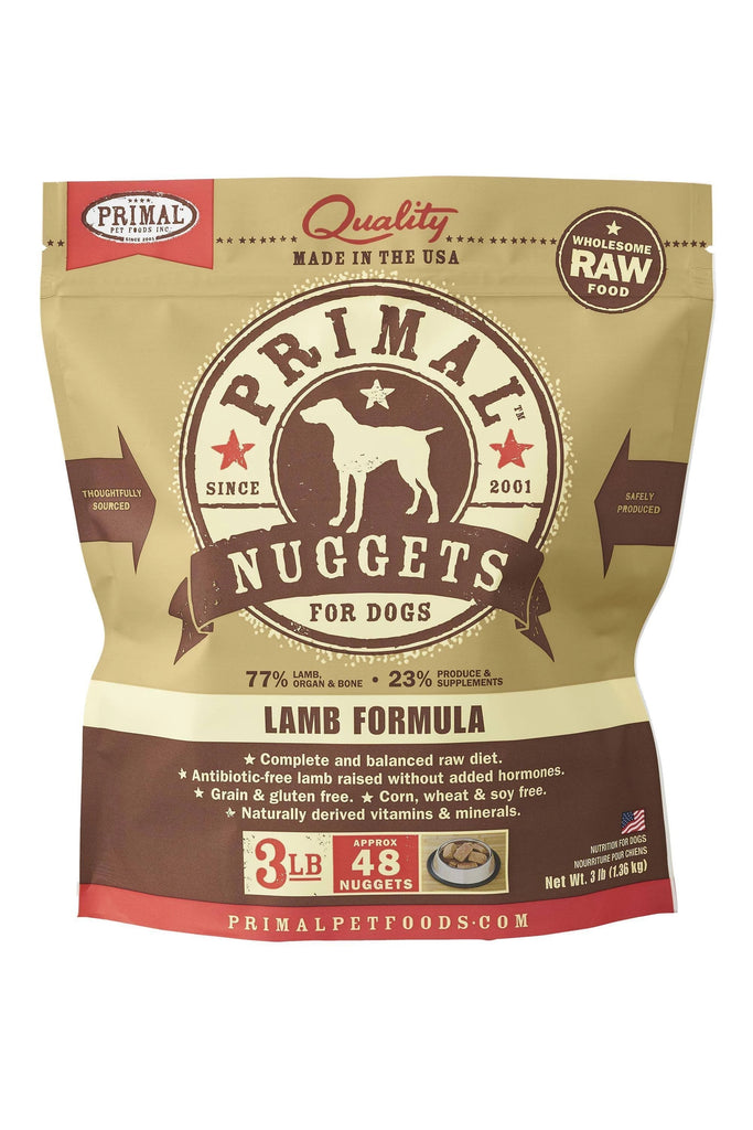 Primal RAW Frozen Lamb for Dog 3lb Nuggets