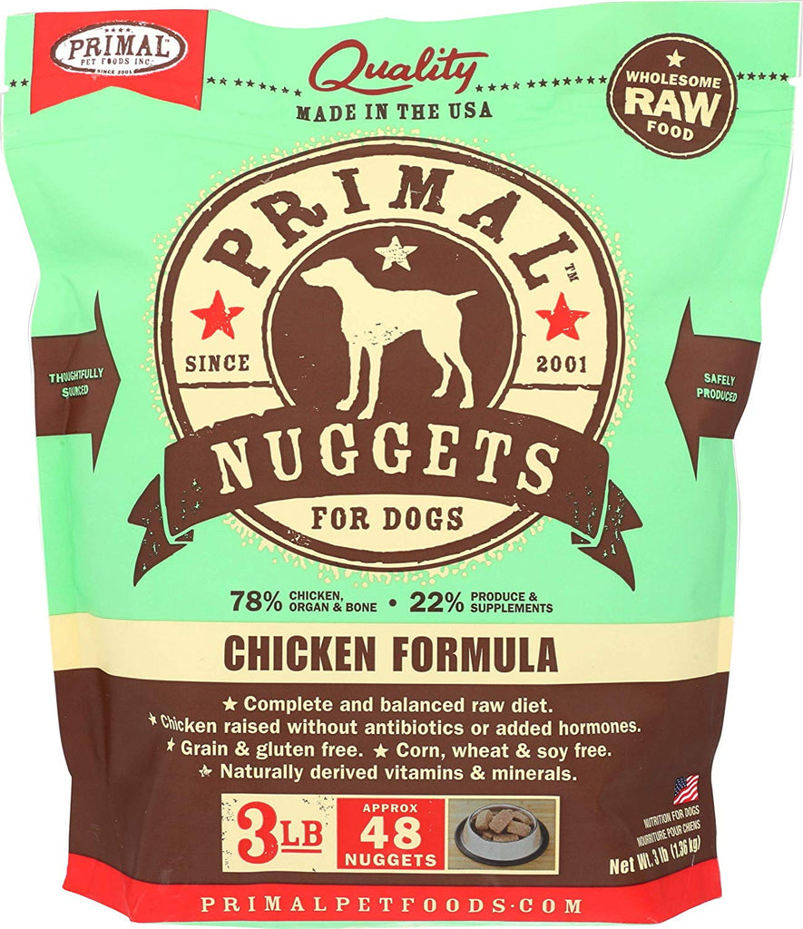 Primal RAW Frozen Chicken for Dog 3lb Nuggets