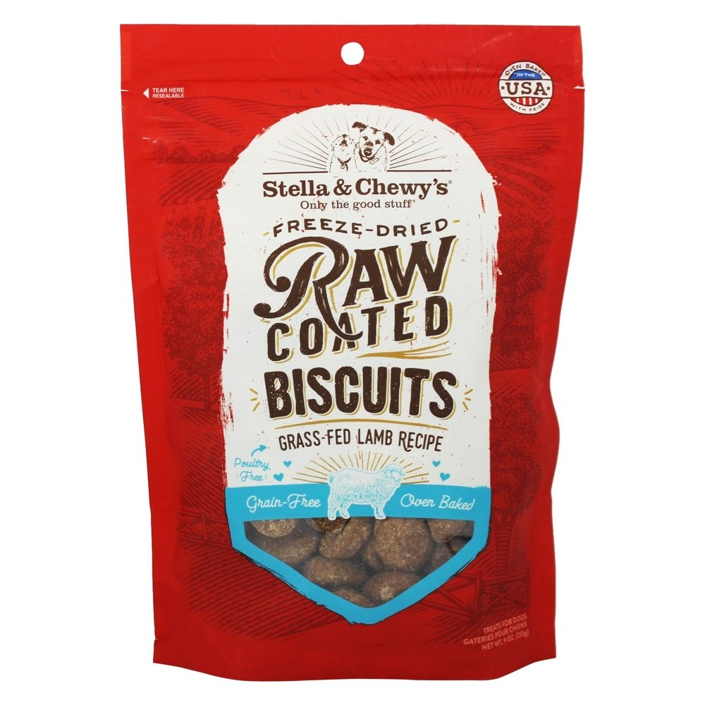 Stella & Chewy's Raw Coated Biscuits Grass-Fed Lamb Recipe 9 oz