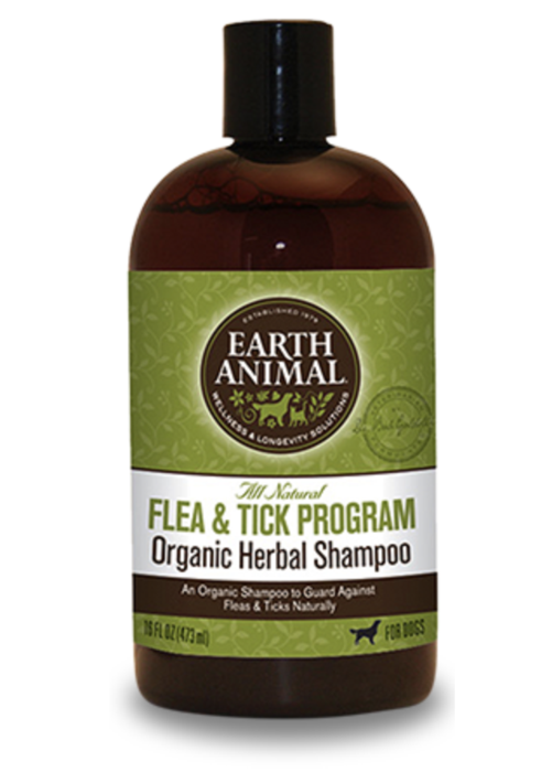 Earth Animal Dog Flea & Tick Shampoo 16oz