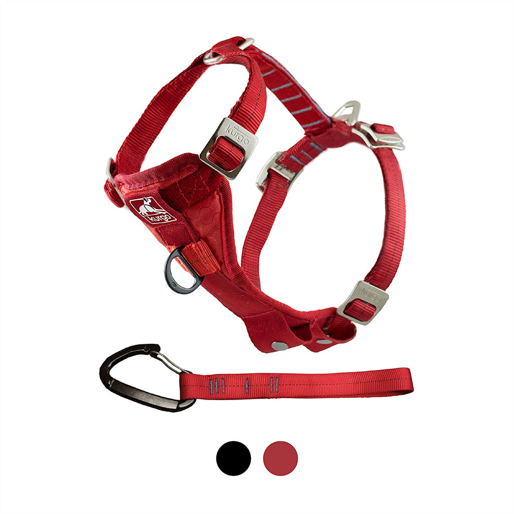 Kurgo Tru-Fit Harness- Auto & Walking Harness, Large, 50-80 lbs, Dog, Red