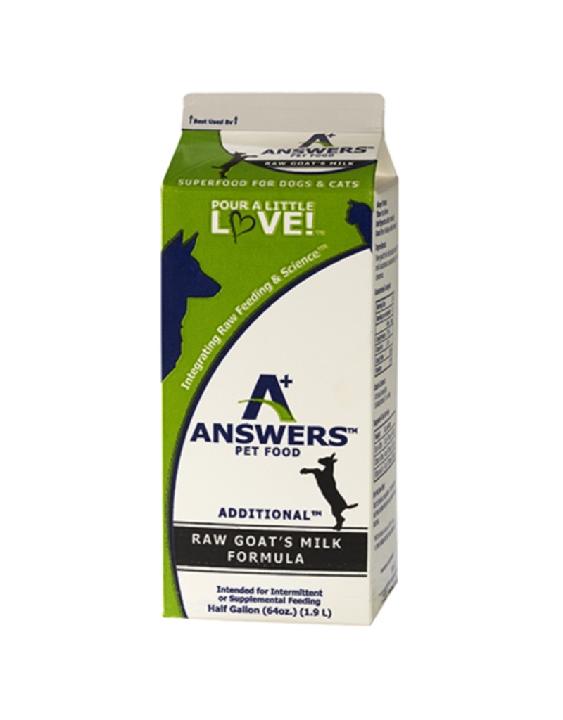 Answers Dog/Cat Frozen Additional Goat Milk 1/2 Gallon
