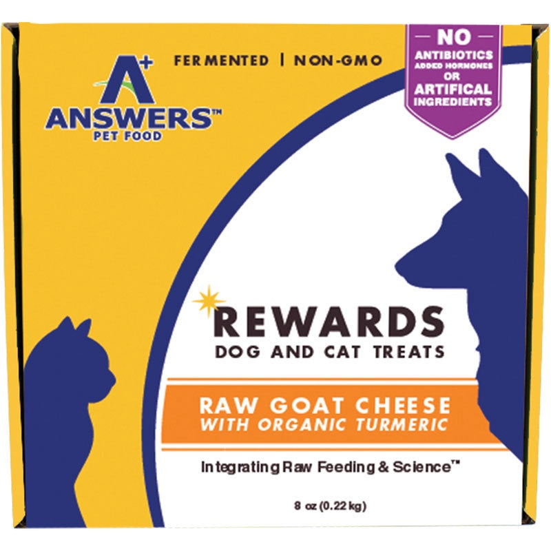 Answers Dog/Cat Frozen Goat Cheese & Turmeric Treat 8oz