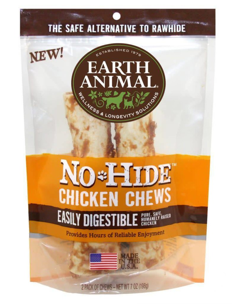 "Earth Animal Dog No Hide Chicken Chew 4"" 2pk"