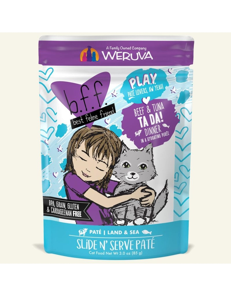 BFF Cat Play Ta Da Beef &Tuna 3oz Pouch