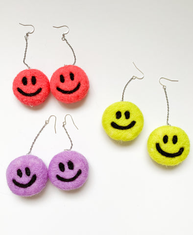 Felt Happy Handmade Felt Earrings