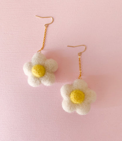 Daisy Felt Earrings