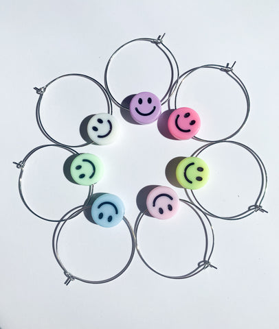 Smiley Miley Handmade Hoops